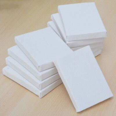 10pcs 5*7cm White Blank Mini Cotton Stretched Canvas Board Acrylic Oil Paint Art
