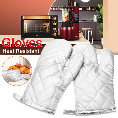 1 Pcs Heat Resistant Baking Gloves Oven Mitts Kitchen BBQ Cooking With Hook
