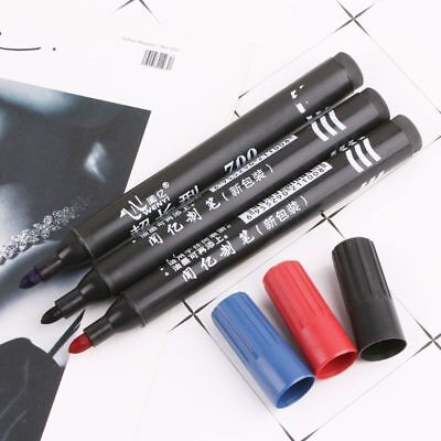 8pc Permanent Paint Marker Pen Oil Based For Rubber Glass Metal Tyres Bin Number