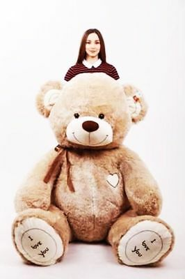 190 cm ! GIANT TEDDY BEAR LARGE BIG HUGE STUFFED beige brown BIRTHDAY GIFT !