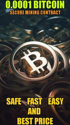 Bit coin 0.0001 Mining BTC Contract (0.0001 BTC /1H -> Directly to your WALLET)