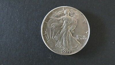 1942 Walking Liberty United States America Usa Silver Half Dollar Coin Nice
