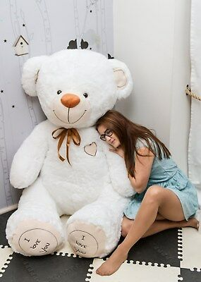 190 cm ! GIANT TEDDY BEAR LARGE BIG HUGE STUFFED white CHRISTMAS GIFT !