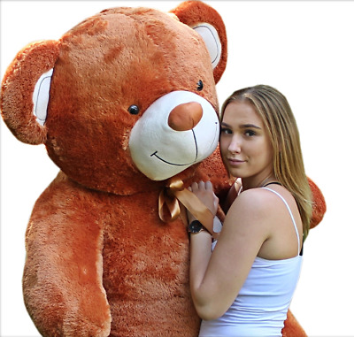 190 cm ! GIANT TEDDY BEAR LARGE BIG HUGE STUFFED  brown ginger CHRISTMAS GIFT !