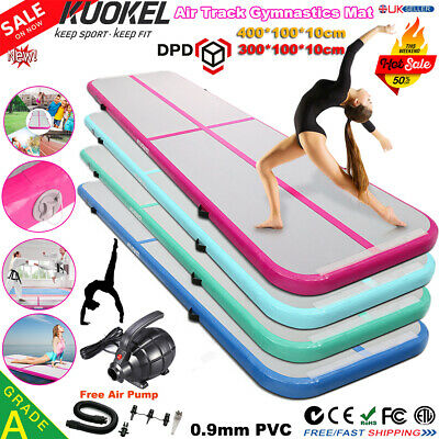 3x1M Inflatable Air Track Tumbling Gymnastic Mat Floor Yoga Training Mat W/Pump