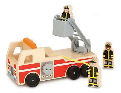Melissa & Doug 19391 Wooden Fire Engine With 3 Firefighter Play Figures