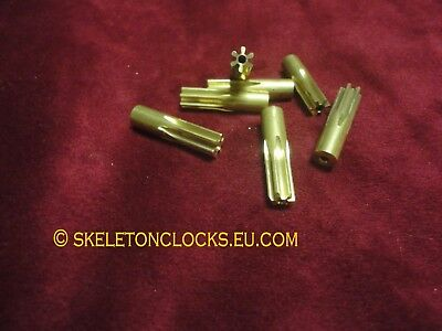 Brass Minute wheel pinions for Longcased Clocks & Fusee