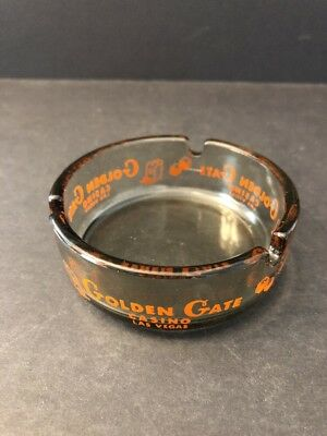 GOLDEN GATE HOTEL & CASINO - Las Vegas - Vintage Casino Collectible Ashtray