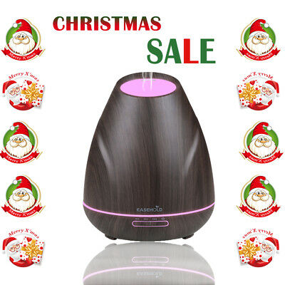 Easehold 7 Farbe LED Ultraschall Luftbefeuchter Aroma Diffuser Duftlampe 4 Modes