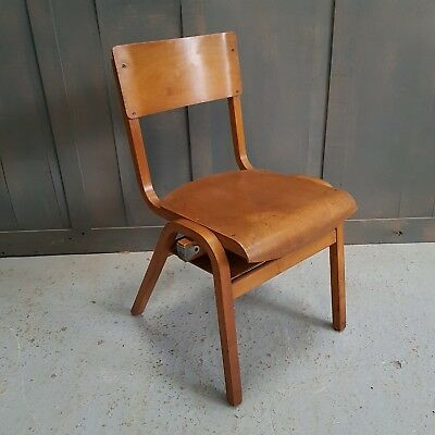Mid Century Vintage Ply Stacking Chair Used
