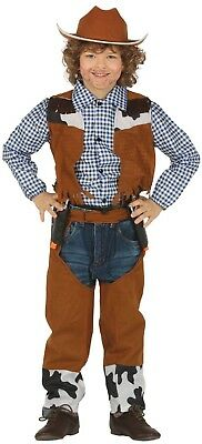 Boys Girls Cowboy Wild West World Book Day Week Fancy Dress Costume Outfit