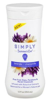Summer's Eve Simply Cleansing Wash, Lavender & Chamomile 12 oz (444 ml)