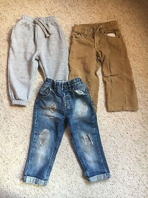 Boys/Kids 3 X Trouser Bundle Age 18-24 Months Includes Baby Gap And Next