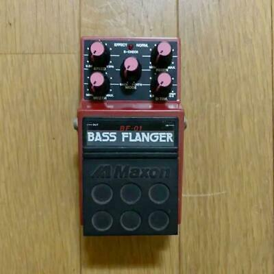Used! MAXON BF-01 Bass Flanger Vintage Effects Pedal Made in Japan
