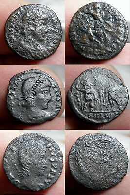 42  Roman -* Lot Of 3 Coins* - Constantius Ii 337-361 A.d.