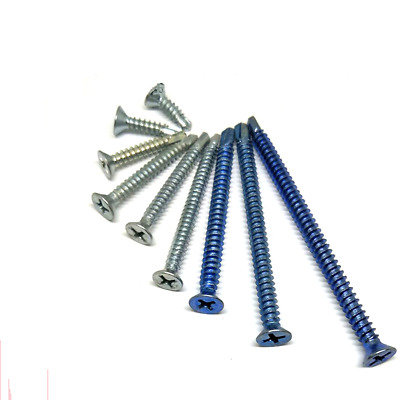 M4.2 M4.8 Flat Head Phil Self Drilling Tapping Screws Zi-Plated For Metal Panel