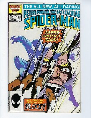 Peter Parker, The Spectacular Spider-Man # 119 (Oct 1986), Vf-