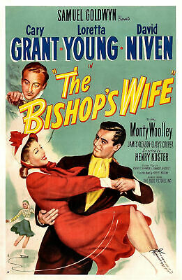 Cary Grant The Bishop's Wife Film Vintage Cinema Movie Poster Print Picture A3