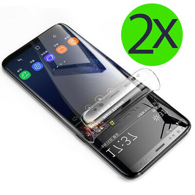 2x Panzer Folie - für Samsung Galaxy S8 Schutz Folie 3D Display Full Cover Klar