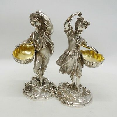 Sterling Silver Figural Salts Made by GARRARDS, London 1978. Stock ID 9245