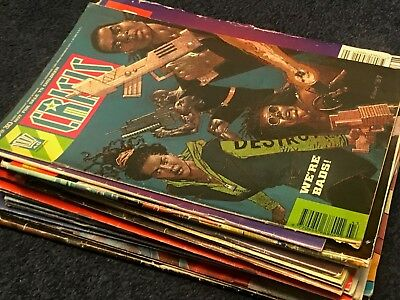 JUDGE DREDD MEGAZINE (2000AD) CRISIS  JOB LOT  X22 total  UK COMICS