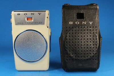 Vintage Sony TR-510 AM Five Transistor Pocket Radio & Case