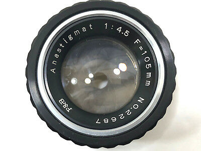P&B ANASTIGMAT F=105mm 1:4.5 Enlarger Lens No.22687 With Case Made In Japan