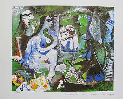 Pablo Picasso MAYA PLAYING Estate Signed Stamped Numbered Large Giclee Art