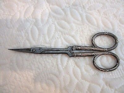 Antique Sterling Silver Handle Manicure or Sewing Scissors