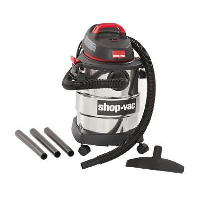 Shop-Vac 6 Gallon Wet Dry Vacuum 4.5 Peak HP Stainless Steel