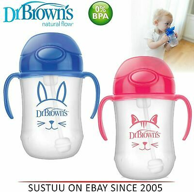 Dr Brown's Baby Weighted Spillproof Straw│BPA Free│Dishwasher Safe│Siippy Cup