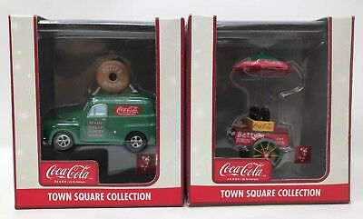 Coca Cola Town Square Collection Accessory-Betty's Donuts Truck Lot Of 2! New!!!
