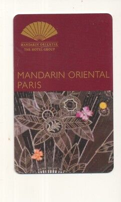 MANDARIN ORIENTAL---Paris, France---Room key--K-82