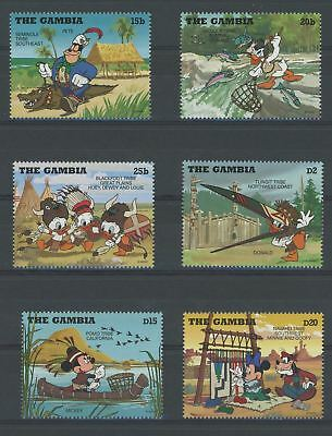 Gambia Disney Stamps Tribe Serie Set of 6 Stamps Mint NH