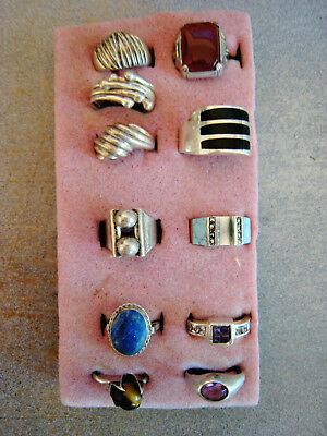 Sterling Rings (Lot Of 11) 1 Not Sure It's Sterling.