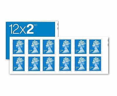 12 x 2nd Class Postage Stamps - Self-adhesive booklet