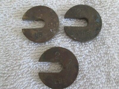 Vintage Brass SCALE Weights- Set OF 3