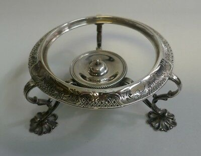 Circa 1773 / 1793 English Georgian Sterling Silver Kettle Stand With Burner