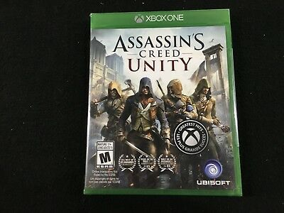 XBOX One Assassin's Creed Unity Video Game Brand New Sealed