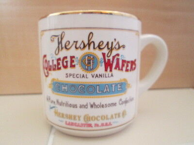 Vintage Hershey's Chocolate College Wafers Special Vanilla Confection Coffee Mug