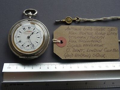 Antique Solid Silver Hunter Pocket Watch J DENT for the OTTOMAN EMPIRE.Working