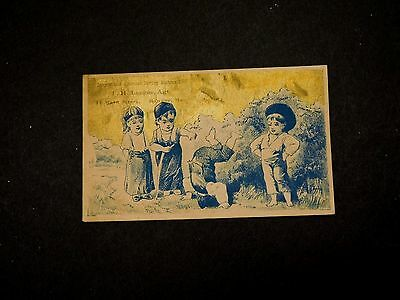 American Sewing Machine Co. F.H Lougee Agt. Children Playing Tumbling A1