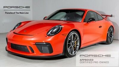 2018 911 GT3 2018 Porsche 911 GT3 1,833 Miles Lava Orange 2D Coupe 4.0L 6-Cylinder 6-Speed Ma