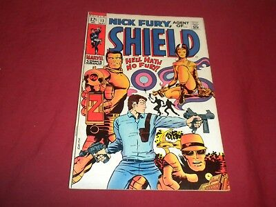 Nick Fury, Agent of Shield #12 marvel 1969 silver age 7.5/8.0 comic! Lots up!!!!