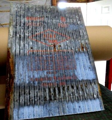 1-pcs{ STAMPED } RECLAIMED CORRUGATED METAL / TIN ROOFING PANELS