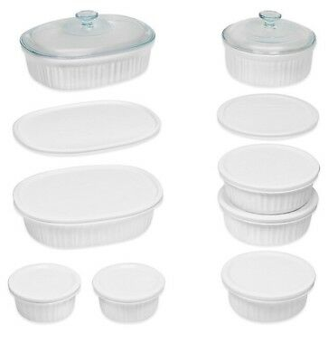 French White 18-Piece Bakeware Set by CorningWare  holiday cooking set