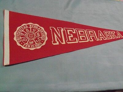 Nebraska Cornhuskers, University Seal Pennant, Older & Clean