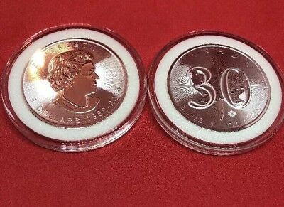 2018 30th Anniversary Canadian Silver Maple Leaf BU In Coin Cap Free Shipping!