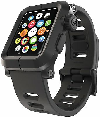 LUNATIK EPIK Polycarbonate Case Silicone Strap Apple Watch Series 1 - Black (VG)