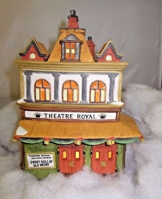 Vintage Department 56 Heritage Village Dickens Collection Theatre Royal 1989